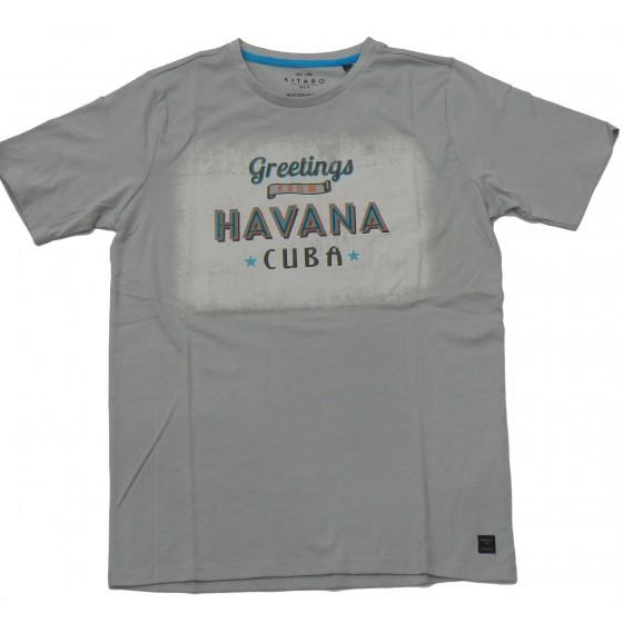 K1102 KITARO t-shirt HAVANA Πόλο και Τ-shirts Ανδρικα ρουχα - borghese.gr