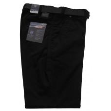 Luigi Morini μαύρο παντελόνι βαμβακερό