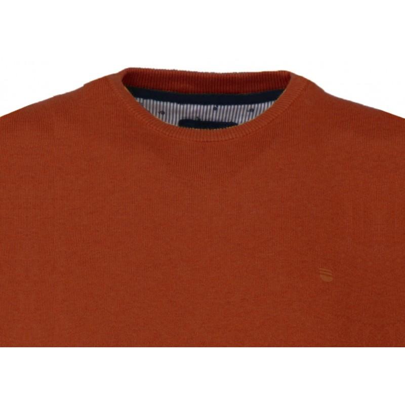 Ανδρικα Πλεκτα - X0500-22 REDMOND βαμβακερό πουλόβερ κολεγίου Πλεκτά  Ανδρικα ρουχα - borghese.gr