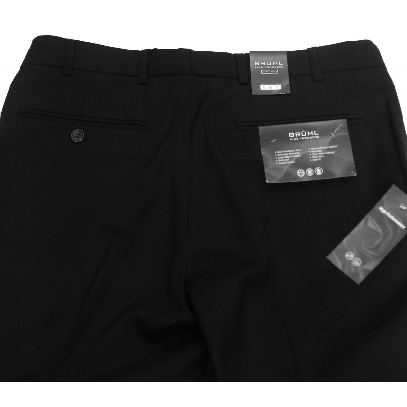 Ανδρικα Παντελονια - X3310-01 Bruhl μάλλινο παντελόνι  Κλασικά με τσάκιση Ανδρικα ρουχα - borghese.gr