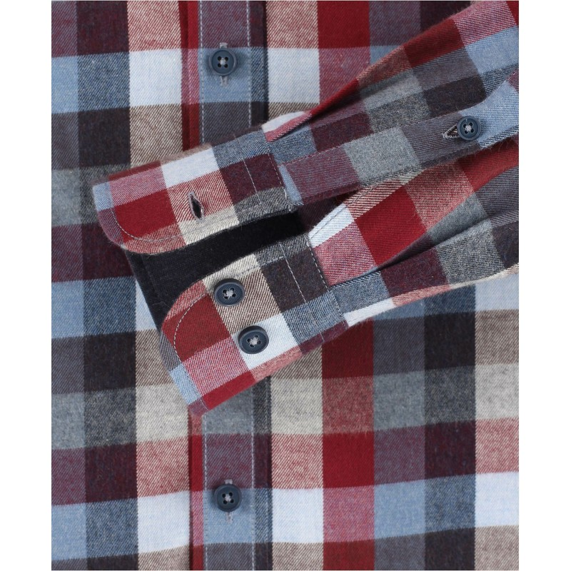 Ανδρικό πουκάμισο φανέλα καρό Casamoda πουκάμισο φανέλα Πουκάμισα Ανδρικα ρουχα - borghese.gr