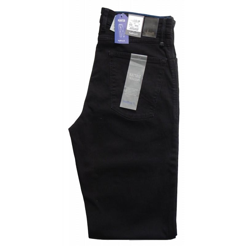 Ανδρικα Παντελονια - X8525-01 Hattric παντελόνι τζιν 5τσεπο  5τσεπα και τζινς Ανδρικα ρουχα - borghese.gr