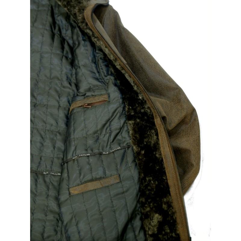 X8829 Old Tailor Μπουφάν κοντό δερμάτινο Δερμάτινα Ανδρικα ρουχα - borghese.gr
